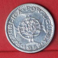 GUINÉ 20 ESCUDOS 1952 - *SILVER*   KM# 11 - (Nº32240) - Portugal