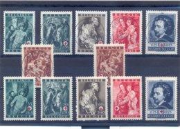 Nrs. 647/652 Prachtig Gestempeld (used) +  Postgaaf ** Zeer Mooi MNH - WW II