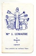 Imphy Calendrier Droguerie Lemaitre 1965 - Calendriers