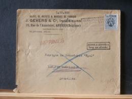 A11/565 LETTRE IMPRIMES  RETOUR A L'ENVOYEUR - 1929-1937 Heraldischer Löwe