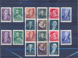 Nrs. 661/669 Prachtig Gestempeld (used) +  Postgaaf ** Zeer Mooi MNH - WW II