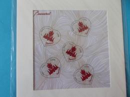 "Timbre No : FEUILLET 4883 , SAINT VALENTIN "" COEUR De BACCARAT ""dans Son Emballage D'origine , XX , Timbres En Bon état - Francia"