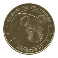 Monnaie De Paris , 2015 ,Peaugres , Safari De Peaugres , La Hyène - Monnaie De Paris
