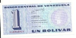 VENEZUELA 1 BOLIVAR 1989 UNC P 68 - Venezuela