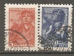 RUSSIE -  Yv N° 734,736    (o)  5,30k  S érie Courante   Cote  0,5  Euro  BE - 1923-1991 USSR