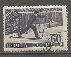 RUSSIE -  Yv N° 776    (o)  60k,  Ski   Cote  1,5  Euro  BE - 1923-1991 USSR