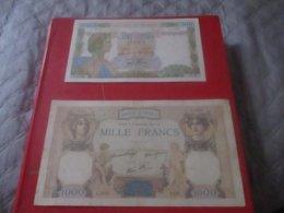 Lot De 2 Billetsde Banque  FRANCE FRENCH BANKNOTE 500f Et 1oooF Anciens LA PAIX Et Ceres Et Hercule - 1871-1952 Gedurende De XXste In Omloop