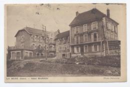 38--LA MURE --HOTEL DE LA GARE MARRON-- RECTO/VERSO - B79 - La Mure
