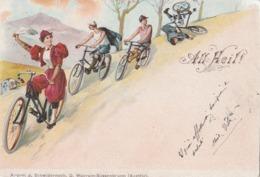 Cartolina  - Postcard /   Viaggiata - Sent/   Donnina In Bici - Femmes