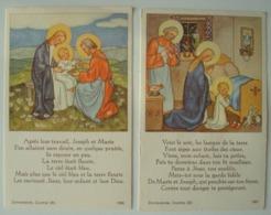 Sainte Famille Jésus Marie Joseph. - 2 Images. - Images Religieuses