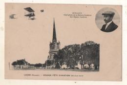 Luçon Grande Fète D Aviation 30 Juin 1912  Guillaux Chef Pilote De La Maison Gaudron Sur Biplan Gaudron - Lucon