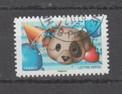"""FRANCE / 2018 / Y&T N° AA 1566 : """"Emoji"""" (Chien, Ballons...) - Choisi - Cachet Rond - France"""