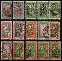 TUNISIE - COLIS POSTAUX - LOT DE 15 TIMBRES OBLITERES - Tunisie (1888-1955)