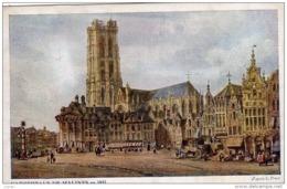 BELGIQUE - Cathédrale De MALINES En 1833  Carte écrite En 1917  2 Scans - Malines
