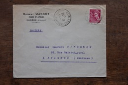 Enveloppe Robert Massot Affranchie Type Mercure Oblitération Sorède 1940 - 1921-1960: Modern Period