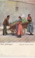 PARIS PITTORESQUE MARCHAND DE QUATRE SAISONS EDITION KUNZLI COLORISEE - Petits Métiers à Paris