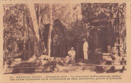 BANTEAI KEDEI Déc. 1921 - Le Maréchal Joffre Assis Au Milieu Des Ruines Angkor Cambodge Indochine Paulussen 91 Cambodia - Cambodia