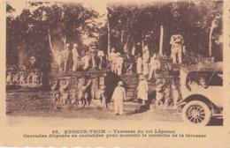 ANGKOR THOM - Terasse Du Roi Lépreux Avec Maréchal JOFFRE Cambodge Cambodia Indochine Paulussen 85 Siam - Cambodia
