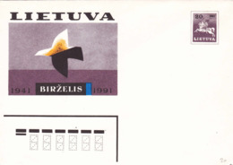 Entier 1941 1991 Chevalier - Lituanie