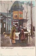 PARIS PITTORESQUE MARCHANDE DE JOURNAUX EDITION KUNZLI COLORISEE - Petits Métiers à Paris