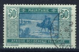 Mauritania, 50c., Camel Drivers, 1922, VFU - Mauritania (1906-1944)