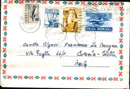 8807) Romania Biglietto Postale Da 60 B.+2l+40b+35b. Ordinaria Da Prahova A Catania Il 18-3-1971 - Cartas