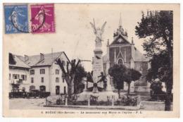Boege , Monument Aux Morts Et L'église - Frankrijk