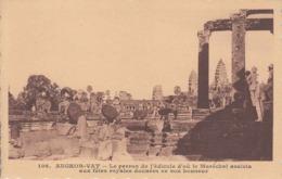 Angkor-Vat - Le Perron De L'édicule D'où Le Maréchal Assista Aux Fêtes... Paulussen N° 106 CAMBODGE Indochine éléphant - Cambodia