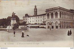 D46  CAHORS  Le Monument Gambetta Et Le Lycée  ..... - Cahors