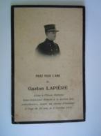 Oorlog Guerre Gaston Lapière élève Ecole Militaire Sous-lieutement Mitrailleuses, Tué Champ D'honneur 1915 - Andachtsbilder