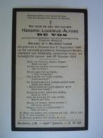 Oorlog Guerre Hendrik-Lodewijk-Alfons De Vos °Brussel 1890 Soldaat Gesneuveld Nieuwpoort-Baden 19 Oktober 1914 - Images Religieuses