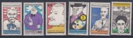 Tchécoslovaquie 1969 1725-30 ** Portraits Satiriques De Personnalités Matisse Kafka - Tchécoslovaquie