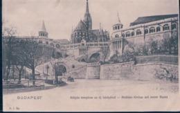 POSTAL HUNGRIA -BUDAPEST - MATYAS TEMPLOM AZ UJ BASTYAVAL - MATHIAS KIRCHE MIT NEUER BASTEI - A I BP - Hungría