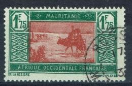 Mauritania, 1f.75, Camel Drivers, 1928, VFU nice Postmark (ROSSO) - Mauritania (1906-1944)