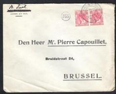 NEDERLAND NVPH 60 (paartje) Op Enveloppe Alphen A/d Rijn December 1918 Naar Brussel (B) - 1891-1948 (Wilhelmine)