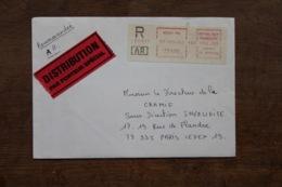 Enveloppe Recommandée Distribution Par Porteur Spécial Oblitération Machine Meaux 1984 - 1961-....