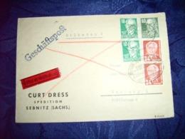 Sowjetische Zone (SBZ) R - Brief 14.05.1952 / Sebnitz Nach Hamburg / Siehe Fotos - Zona Sovietica