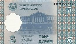 TADJIKISTAN 5 DRAM 1999 UNC P 11 - Tadzjikistan