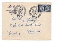 EXPO POSTALE ET PHILATELIQUE DE BORDEAUX 1951 - Marcophilie (Lettres)