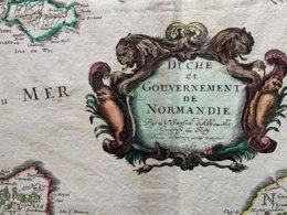 Duché De Normandie / Carte Géographique XVIIéme De Nicolas Sanson (Abbeville) 1664 ? - Geographical Maps