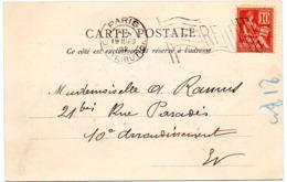 PARIS DISTRIBUTION 1902 =  FLAMME BICKERDIKE DRAPEAU BLANC - Marcofilia (sobres)