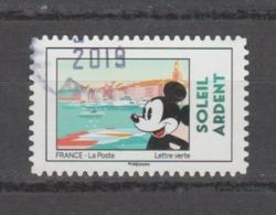 "FRANCE / 2018 / Y&T N° AA 1592 : ""Mickey & La France"" (Soleil Ardent - Cannes) - Oblitéré 2019. SUPERBE ! - Autoadesivi"
