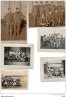 ENSEMBLE DE PHOTOGRAPHIES DE PRISONNIERS DE GUERRE CACHETS ALLEMANDS BAU UND ARBEITER BATAILLON AU DOS - Guerre, Militaire