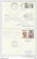 POLYNESIE ET FRANCE PREMIERE LIAISON T.A.I AIR FRANCE POLYNESIE VIA LOS ANGELES 6 MAI 1960 - Polynésie Française