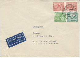 LETTRE PAR AVION POUR LA FRANCE 1953 AVEC 4 TIMBRES - [5] Berlino
