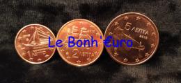 Monnaie 1,2,5 Centimes Cent Cts Euro Grèce 2015, Neuves Du Rouleau, UNC - Grèce