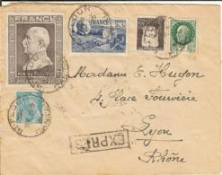 L Par Expres De Saint Flour (Cantal) Pour Lyon - 5/5/1944 - Storia Postale