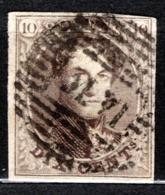 10A Oblitération M VI  -  Bien Margé - 1858-1862 Medallions (9/12)