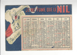 CAPIELLO TABAC JE NE FUME QUE LE NIL CALENDRIER 1947 CALENDAR /FREE SHIPPING R - Calendarios