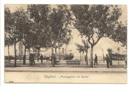 CAGLIARI - PASSEGGIATA VIA ROMA - Cagliari